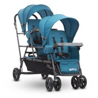 Joovy Big Caboose Graphite Sit and Stand Triple Stroller, Turquoise