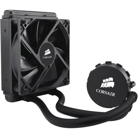 Corsair CW-9060010-WW Corsair Hydro Series H55 Quiet CPU Cooler - 1 x 120 mm - 1700 rpm - Liquid Cooler - Socket AM2 PGA-940, Socket AM3 PGA-941, Socket FM1, Socket H2 LGA-1155, Socket H