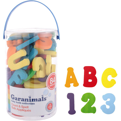Garanimals Foam Shapes, 84-Piece