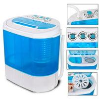 Zeny Portable Washing Machine, Mini Twin Tub Washing Machine w/Washer&Spinner, Gravity Drain Pump, 9.9lbs Capacity