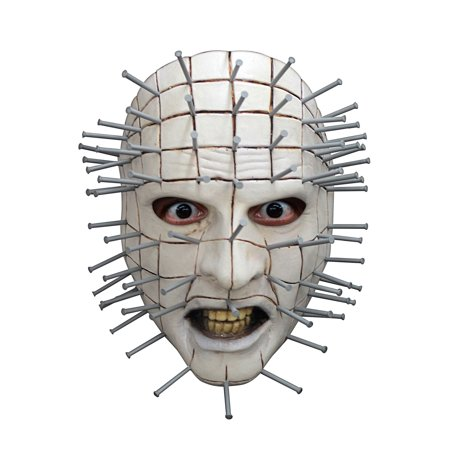 Hellraiser III Pinhead Face Adult Mask Halloween Costume Accessory - Paint Chucky Face Halloween