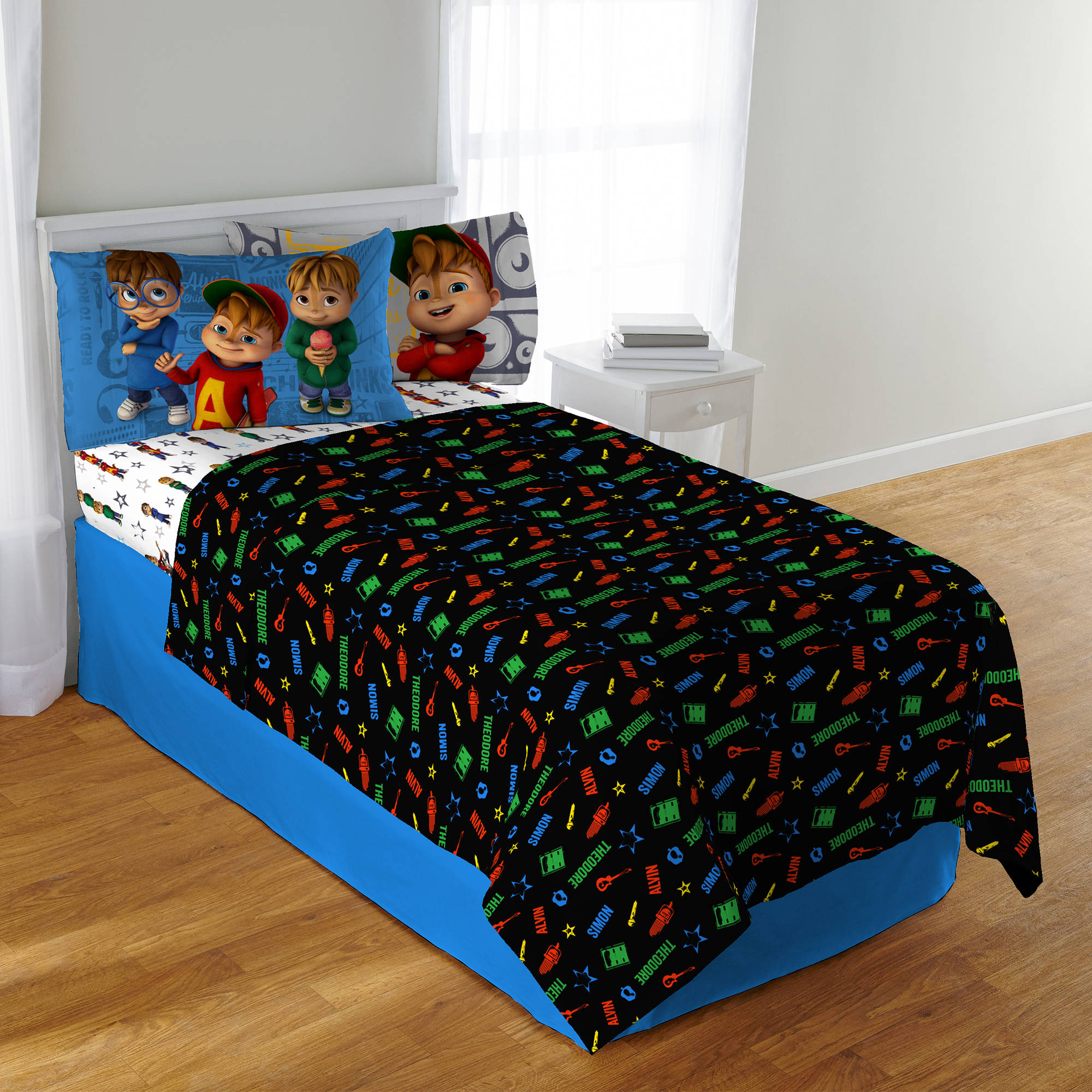 Alvin and the Chipmunks School of Rock Kids Polyester Bedding Sheet Set