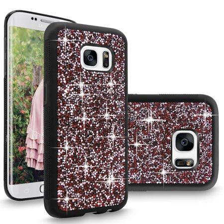 Chase Rocks - S7 Edge Case, Galaxy S7 Edge case, Cellularvilla [Bling] Hybrid Dual Layer Luxury Jewel Rock Crystal Rhinestone Diamond Shell Hard Protective Case Cover for Samsung Galaxy S7 Edge