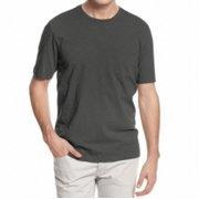Tasso Elba NEW Solid Gray Mens Size Large L Short Sleeve Crewneck Tee Shirt