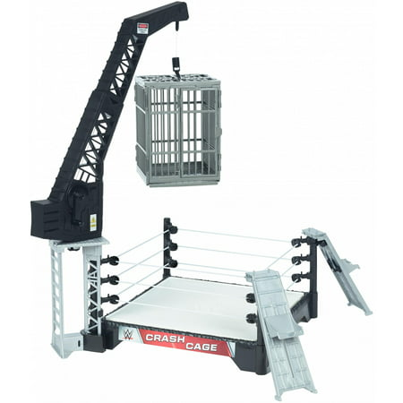 WWE Crash Cage Playset with Ring, Ladder, Cage and Two 6-inch Figures (Wwe Ring Cake)