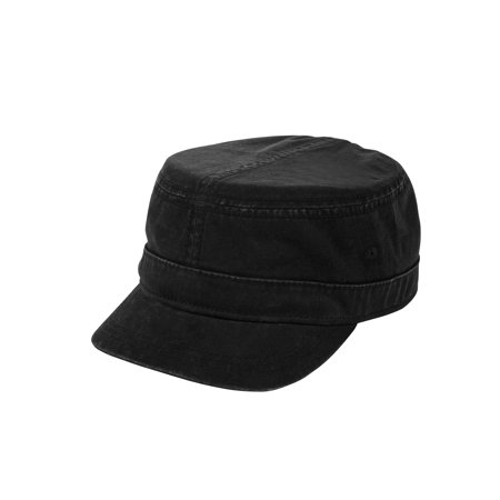Cheap Military Hats (Men's Stone Washed Cotton Military Cadet)