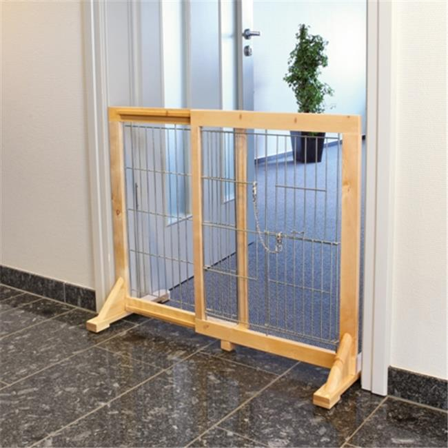 TRIXIE Pet Products Free Standing Dog Barrier with Walk-Thru Pet Door