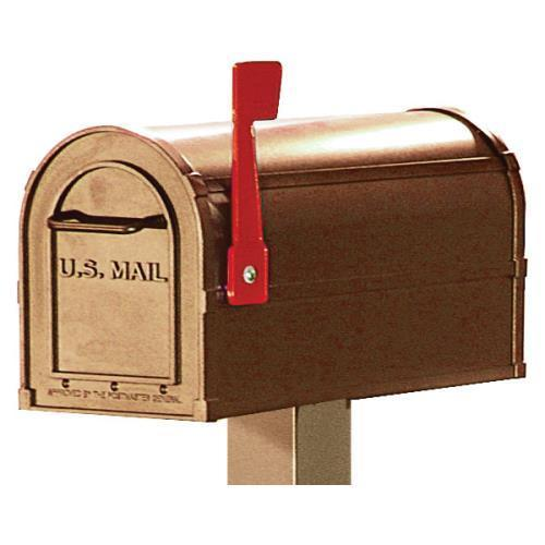 Rural Style Community Mailbox, 1 Box, Beige