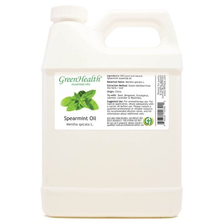 Spearmint Essential Oil - 32 fl oz (946 ml) Plastic Jug w/ Cap - 100% Pure Essential Oil by - Essentials Jug