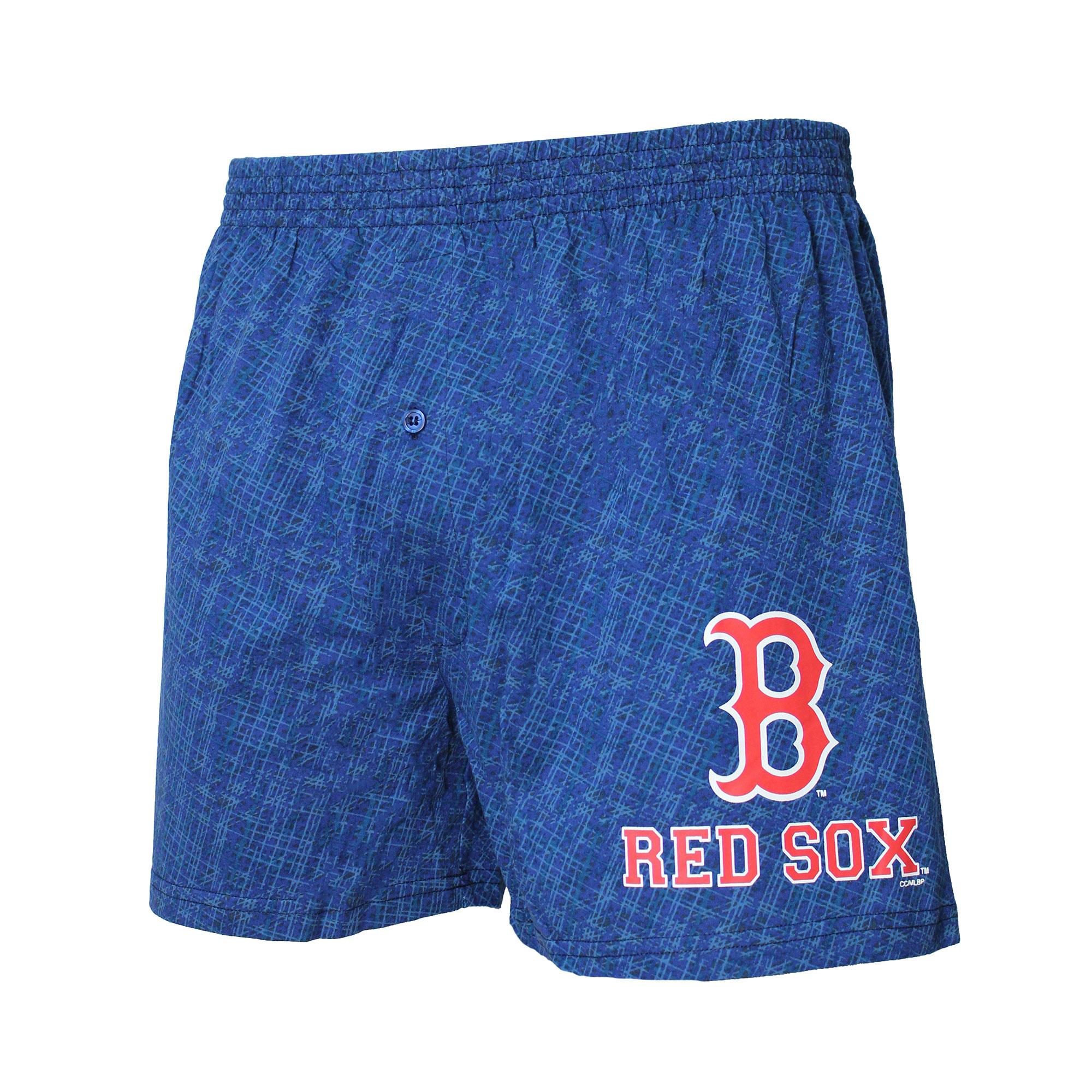Boston Red Sox Concepts Sport Showdown Knit Boxer Shorts - Navy