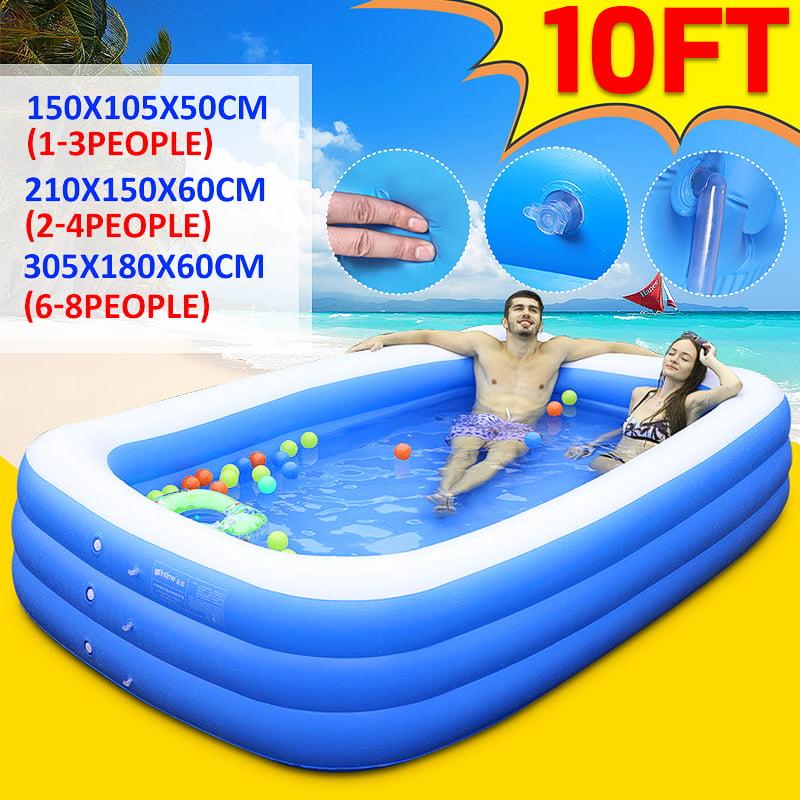 Large Inflatable Swimming Pool Garden Backyard Outdoor ...