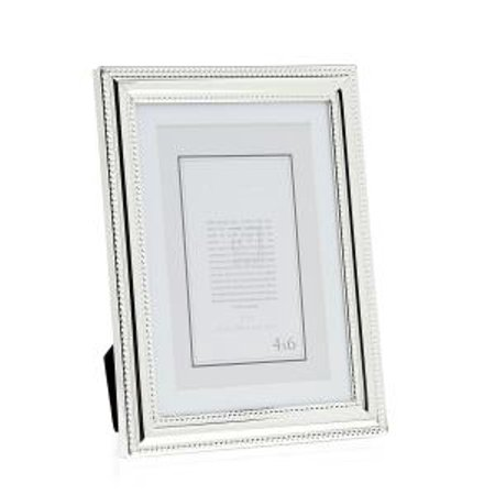 5x74x6 Silver Plated Double Beaded Photo Picture Frame Standing