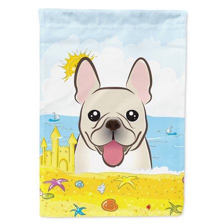 French Bulldog Summer Beach Flag Canvas House Size ()
