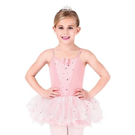Camisole Tutu Dress (Child Glitter Flower Camisole Tutu Dress )
