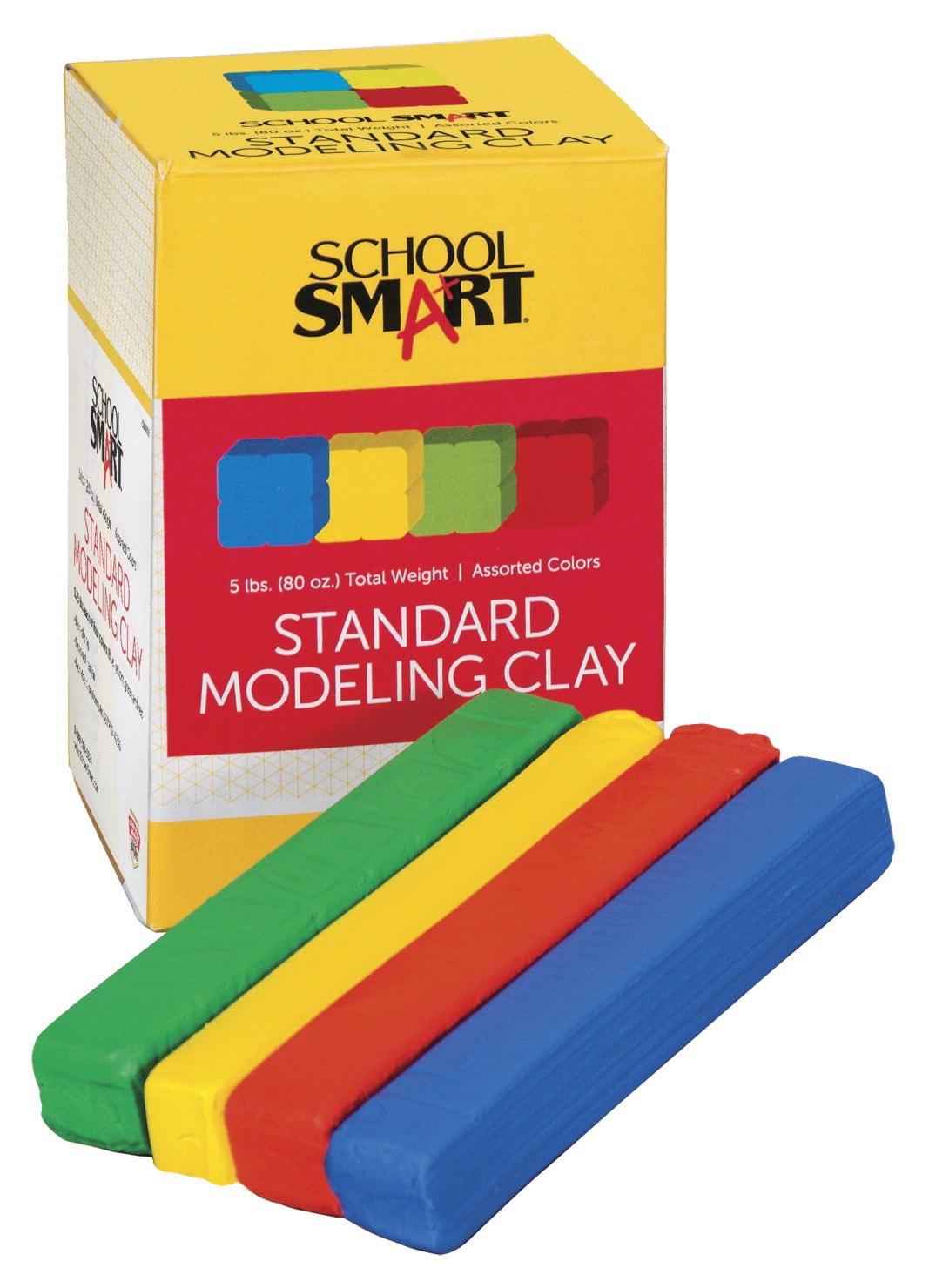 School Smart Non-Toxic Modeling Clay Set, 5 lb, Assorted Standard Colors by Dixon Ticonderoga Co
