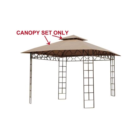 Sunjoy Replacement Canopy set for L-GZ027PWI-3A 10X10 Belvedere gazebo