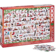 Eurographics Holiday Cats 1000 Piece Puzzle