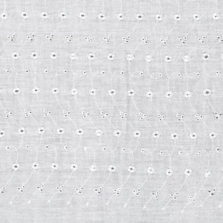 "David Textiles Embroidered Eyelet Fabric By The Yard, 44"" Wide"