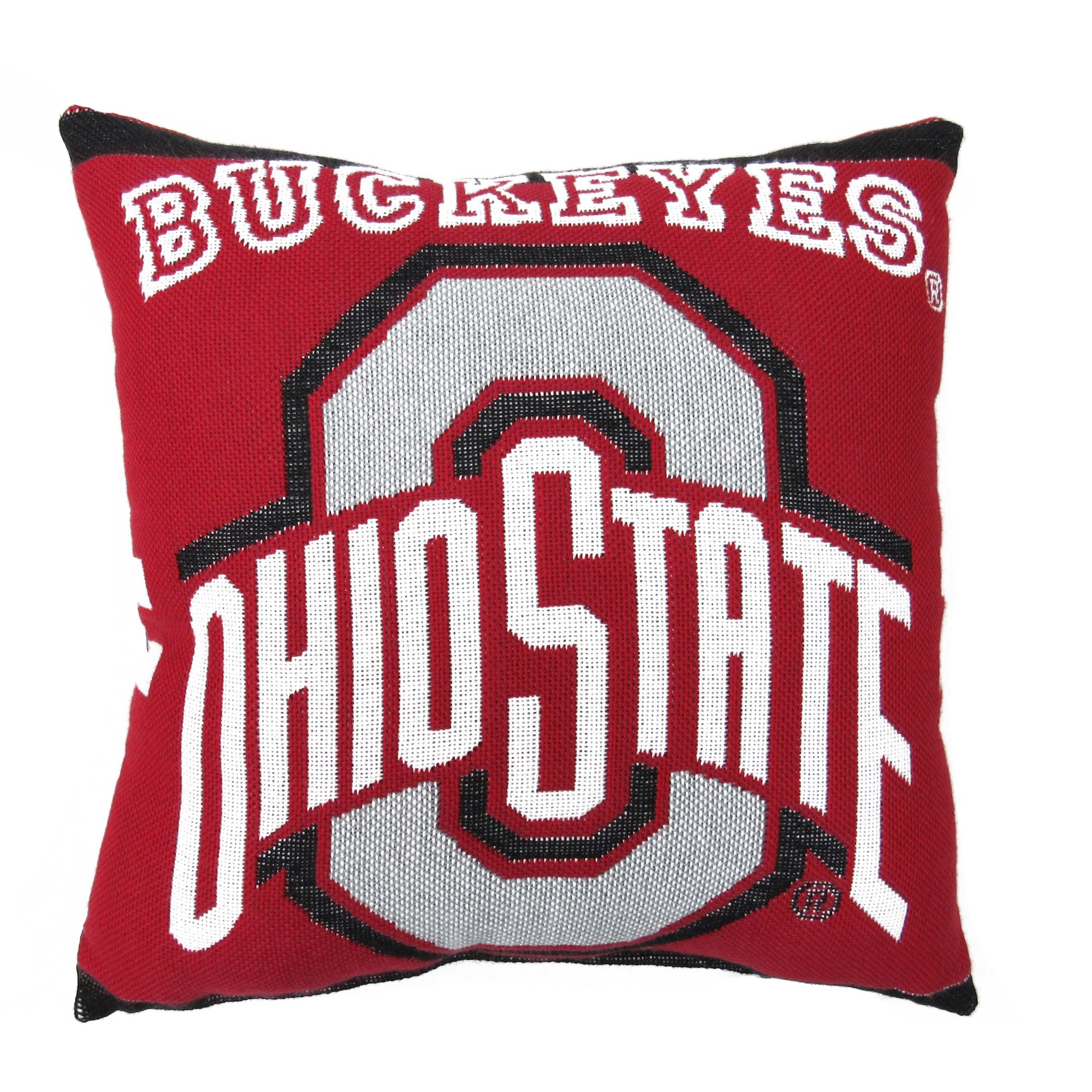 "NCAA Ohio State University 20"" Square Decorative Woven Pillow by The Northwest Company"
