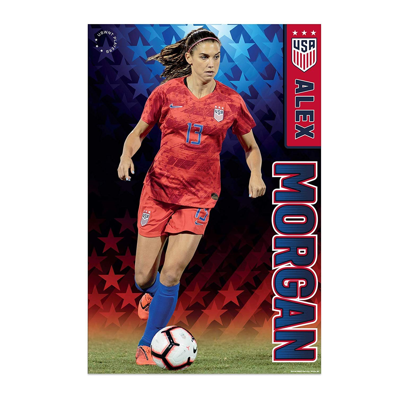 Poster Alex Morgan Women/'s Soccer Football Star Art Wall Cloth Print 36/'/'