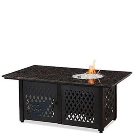 Blue Rhino Dual Heat LP Gas Outdoor Fire Table w/Black Granite Mantel ()