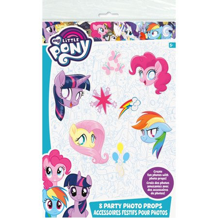 My Little Pony Photo Booth Props, 8ct - My Little Pony Birthday Party Theme