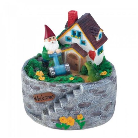 Piper'sPit Storybook Home Gnome Solar Statue (Storybook Decorations)