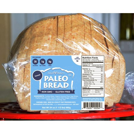 Julian Bakery Paleo Coconut Bread (1 Net Carb), 24 Ounce Loaf