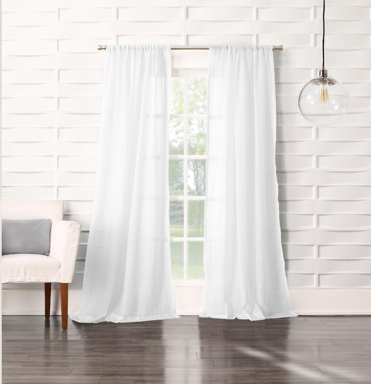 No 918 Vida Semi Sheer Rod Pocket Single Curtain Panel Walmart Com Walmart Com,One Bedroom Apartments In Northern Va