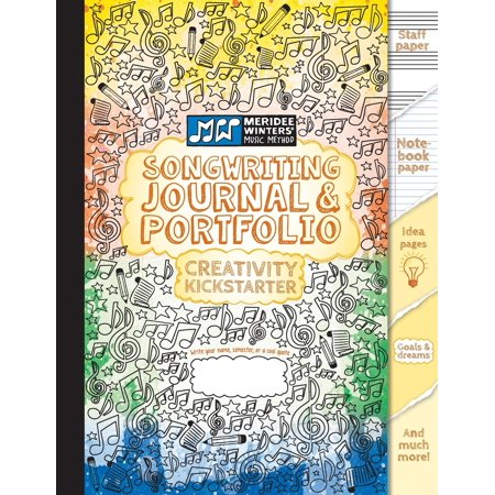 Songwriting Journal and Portfolio : Staff Paper, Notebook Paper, Manuscript Paper, Idea Pages for Notes, Lyrics and Music, Drawing Pages, for Composition and Songwriting, Creativity Kickstarter for Musicians, Music Lovers, Music Students, Songwriters (80 P