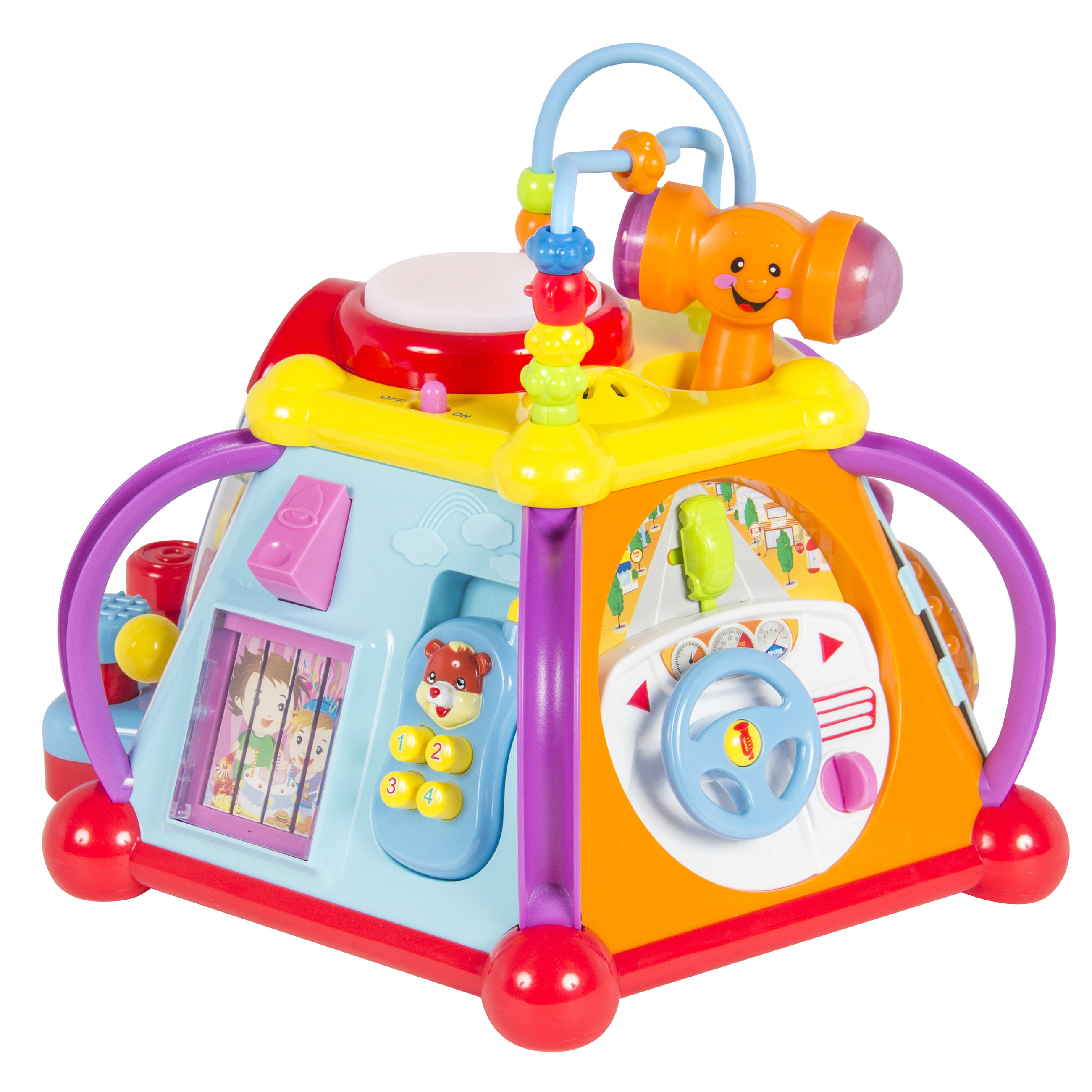 Best Choice Products Kids Toddlers Musical Activity Cube Play Toy w/ 15 Functions, Lights, and Sounds - Multicolor