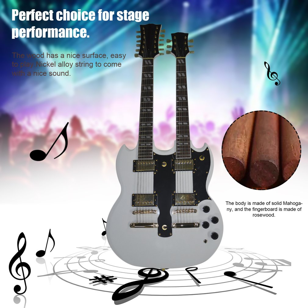 Hot Sale TSAI SY-NE-006 12 Strings Double Necks Electric ...