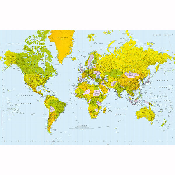 Ideal Décor Map Of The World Wall Mural