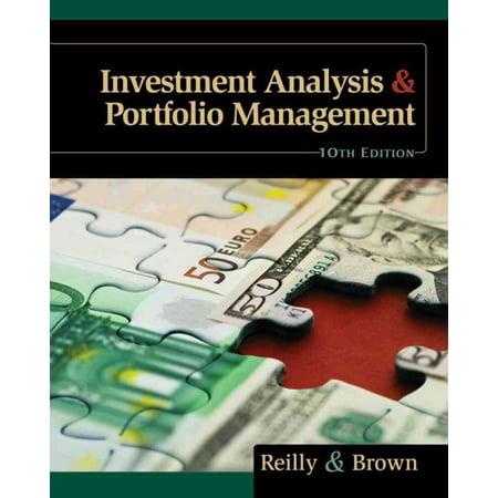 Investment Analysis   Portfolio Management