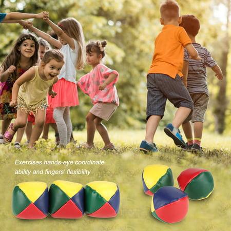 TOPINCN Kids Toy Ball, Juggling Learning Ball, 3Pcs/Set Kids Toy Balls Baby Juggling Learning Ball Set Fun Circus Beginners Learning Prop - image 1 of 8