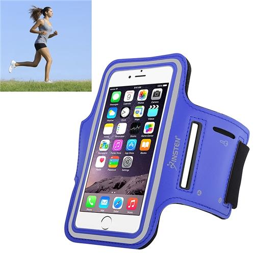 Insten Sports Armband Running Jogging Gym Exercise Case for Apple iPhone 6 6S / Galaxy S6 S6 Edge (with key holder) Blue