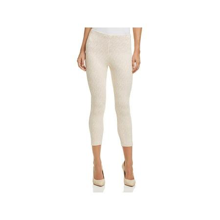 Lysse Womens Emma Lace Overlay Skinny Crop Leggings (Lace Ruffle Leggings)