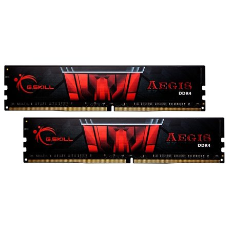 - 16GB G.Skill DDR4 Aegis 2400MH4z PC4-19200 CL17 Dual Channel Memory Kit (2x8GB)