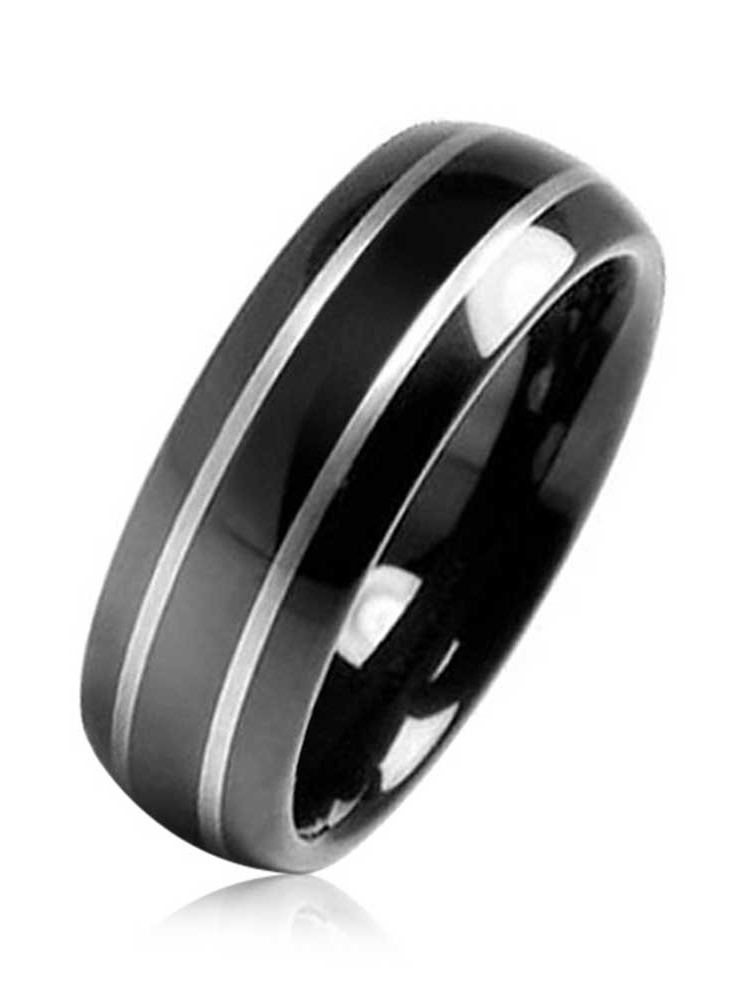 Bling Jewelry Men S Black Wedding Bands Walmart Com