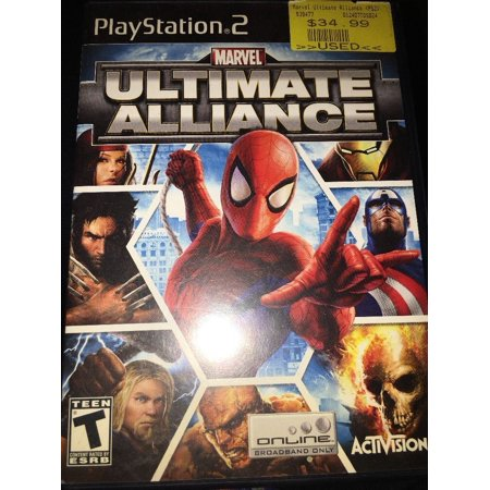Marvel Ultimate Alliance Sony Playstation 2 PS2 Game Disc w/
