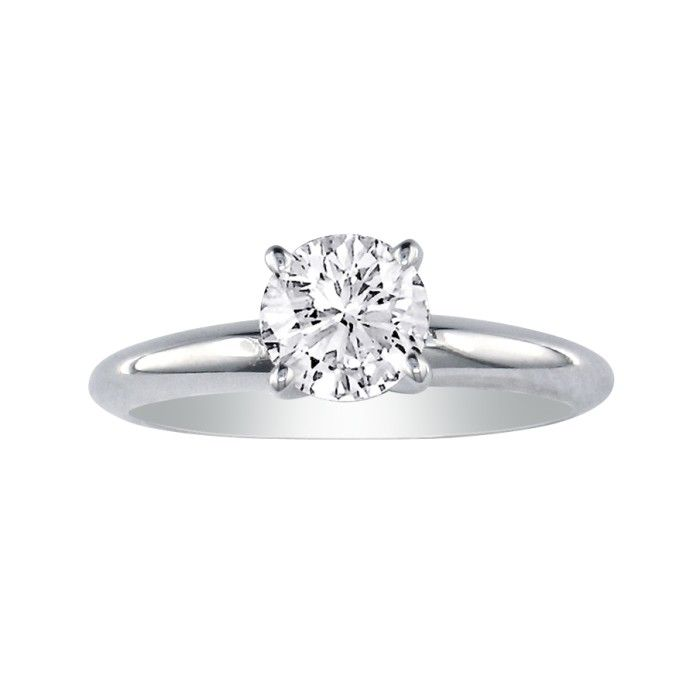 Hansa 1ct Platinum Diamond Engagement Ring, I/J, SI2/SI3