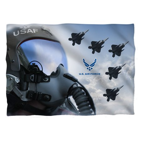Air Force Pilot (Front Back Print) Pillow Case White Medic Air Back Pillow