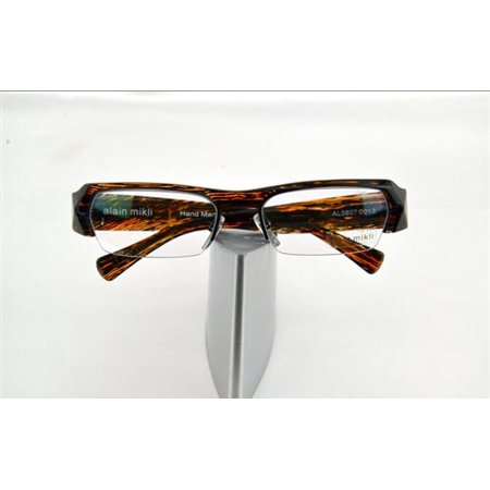 Like  New Alain Mikli AL 807 0013 Light Crystal Brown / Black Zebra Semi Rimless Eyeglasses (Zebra Eyeglass Frames)