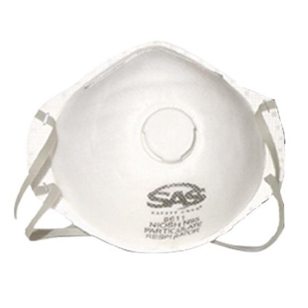 8611 Valved Particulate Respirator, Exhalation valve for easy breathing By Survival Air (Survival Air Systems)