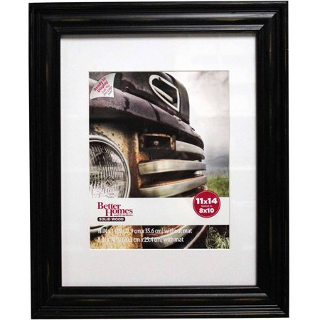 Better Homes And Gardens Distressed 11x14 Picture Frame Black