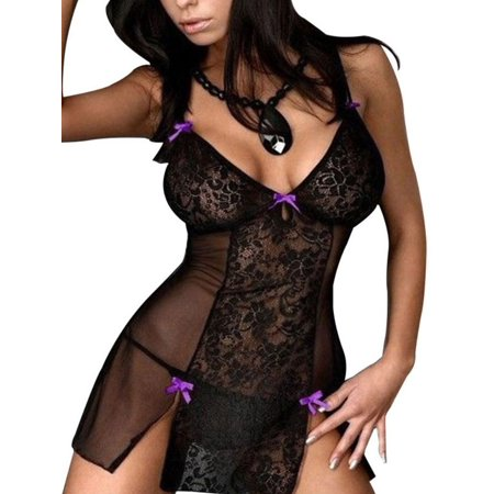 Microfiber Lingerie Set (Nicesee Women Lace Erotic Lingerie)