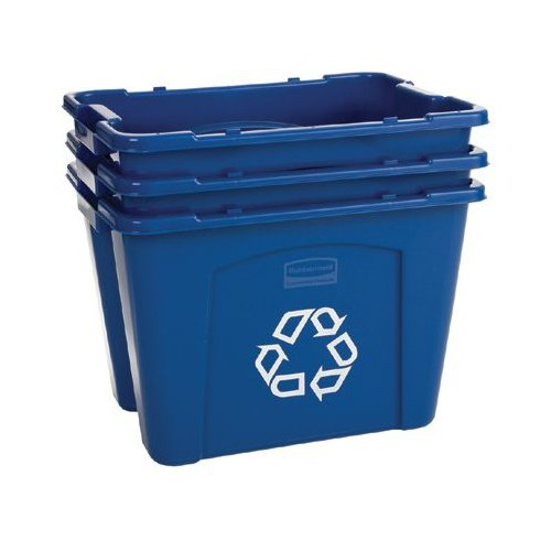 Rubbermaid Commercial Products Rubbermaid Commercial - Recycling Boxes 18 Gal Recycling Box: 640-5718-73-Blue - 18 gal recycling box