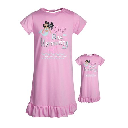 BFF & ME Nightgown Pajama Set with Matching Doll Pajama (Little Girls & Big