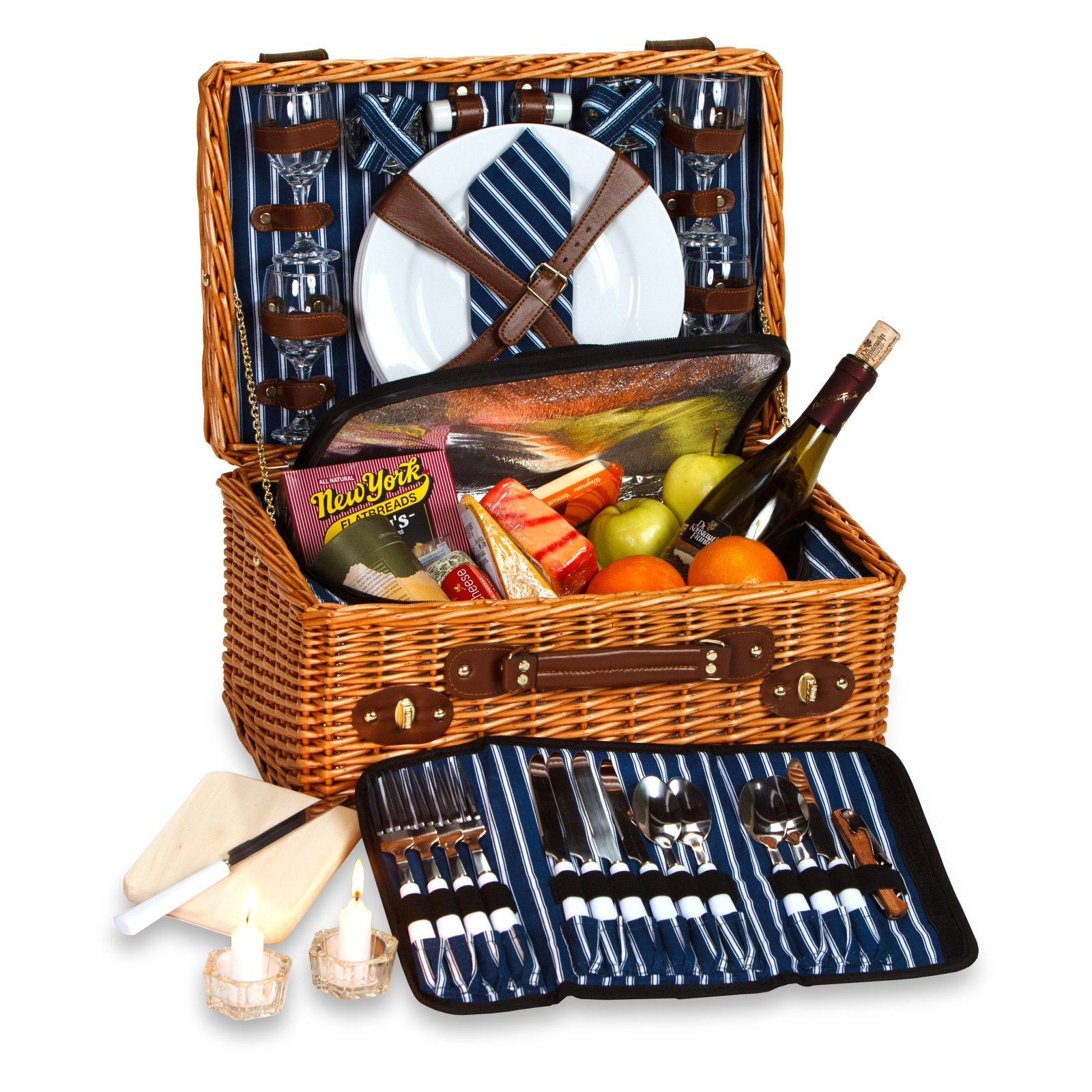 Picnic Plus Wynberrie 4 Person Willow Picnic Basket