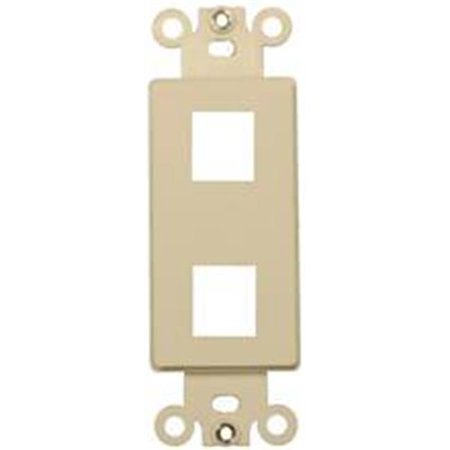 Decorator Wallplate For Keystone Jacks And Modular Inserts Two Ports White - image 1 of 1